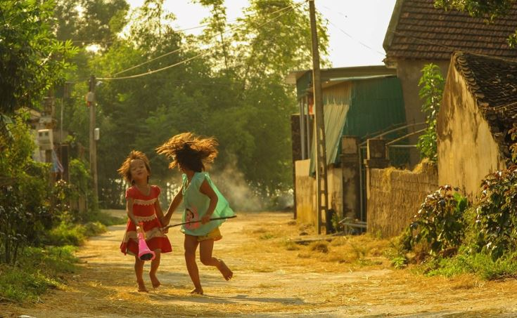 Tả con đường làng em | Văn mẫu lớp 5