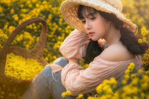 Tuyển tập những ảnh girl xinh bên hoa đẹp nhất - Công Nghệ Số Hóa
