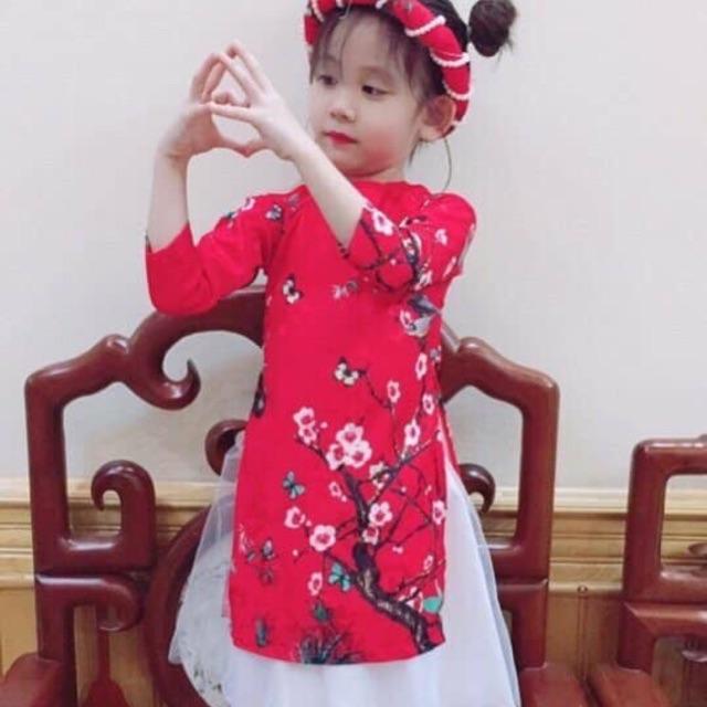 Áo dài tết cho bé gái | Shopee Việt Nam
